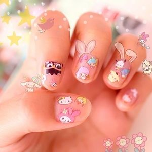 Nail Stickers - Twin Stars, Hello Kitty & More